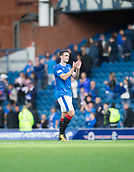 9th September 2017, Ibrox Park, Glasgow, Scotland; Scottish Premier League football, Rangers versus Dundee; Rangers' Lee Wallace applauds the fans at the end