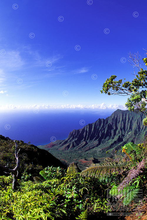 A perfect day at spectacular Kalalau Valley on the island of Kauai.