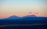 Spanish Peaks from the air over Lake Pueblo.  Sept 2013.  83992