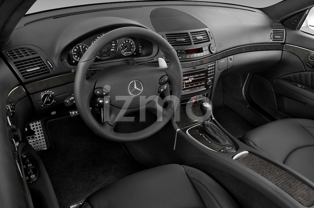 High angle dashboard view of a  2009 Mercedes E63 AMG Wagon