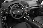 High angle dashboard view of a  2009 Mercedes E63 AMG Wagon