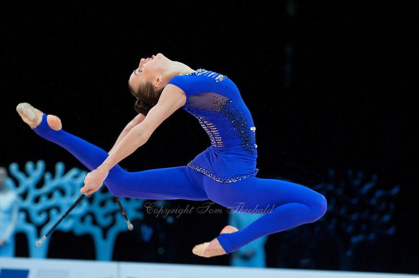 February 27, 2016 - Espoo, Finland - ANNA RIZATDINOVA of Ukraine performs in AA at Espoo World Cup 2016.