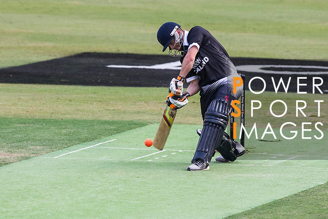 Brad Cachopa of New Zealand Kiwis hits a shot during Day 1 of Hong Kong Cricket World Sixes 2017 Group B match between New Zealand Kiwis vs Bangladesh at Kowloon Cricket Club on 28 October 2017, in Hong Kong, China. Photo by Vivek Prakash / Power Sport Images
