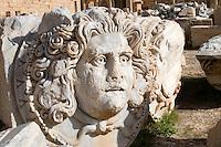 Leptis Magna, Libya - Medusa Head, Severan Forum, 3rd. century.
