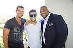 One Life To Live Sean Ringgold poses with GH Erik Valdez and Y&R Christian LeBlanc as they donate time at SoapFest's Celebrity Weekend - Art for Autism when the actors & kids make paintings for auction to benefit Autism on November 10, 2012 Marco Island, Florida. For info www.autism-society.org or www.autismspeaks.org. (Photo by Sue Coflin/Max Photos)