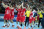 12.01.2018., Croatia, Spaladium Arena, Split - European Handball Championship, Group B, 1st Round, Croatia - Serbia.   Luka Stepancic, Domagoj Duvnjak, Luka Cindric. <br /> <br /> Foto &copy; nordphoto / Ivo Cagalj/PIXSELL