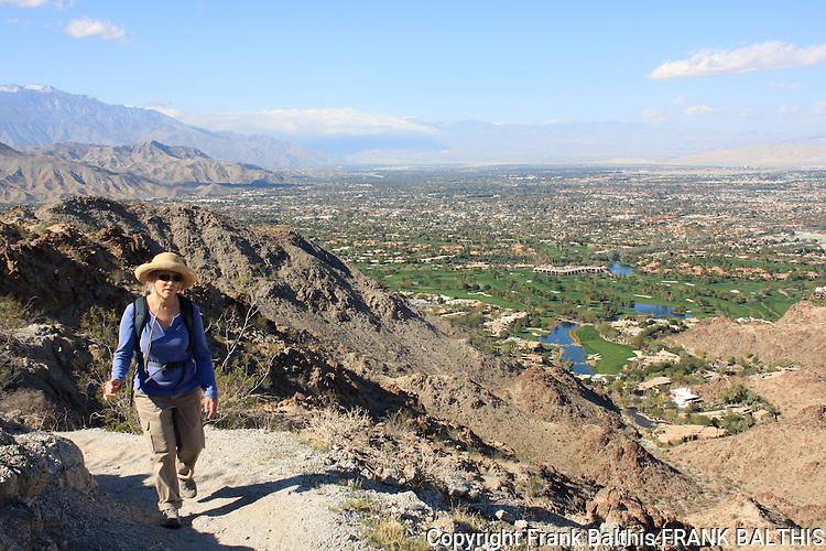 woman hiking near Mt. Eisenhower in Palm Desert