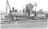 RGS 2-8-0 #42 with plow at Durango.<br /> RGS  Durango, CO  Taken by Payne, Andy M. - 5/28/1949