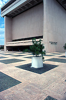 Vintage view of the Lyndon Baines Johnson Library and Museum located on the campus of the University of Texas in downtown Austin, Texas in May 1990. The Lyndon Baines Johnson Library and Museum, also known as the LBJ Presidential Library, is the presidential library and museum of Lyndon Baines Johnson, the 36th President of the United States.