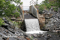 WF26-500z Dam controlling water flow from Lake Wassokeag, Dexter, Maine
