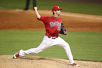Memphis Redbirds pitcher Chuckie Fick #23 delivers a pitch during a game versus the Round Rock Express at Autozone Park on April 29, 2011 in Memphis, Tennessee.  Round Rock defeated Memphis by the score of 5-4 in 13 innings.  Photo By Mike Janes/Four Seam Images