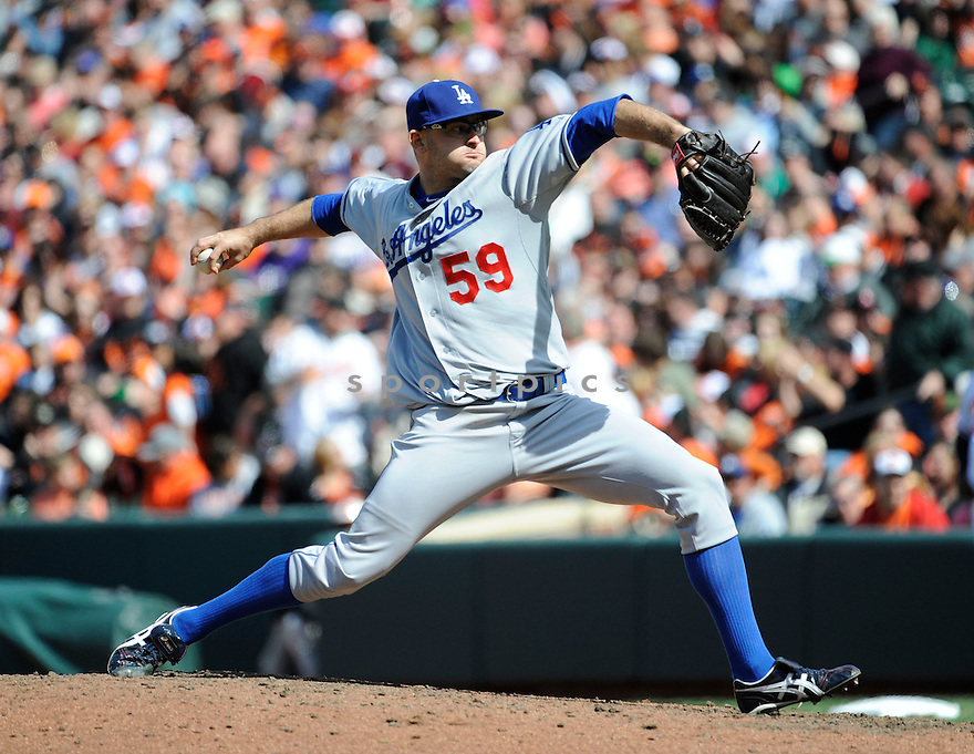 Los Angeles Dodgers Stephen Fife (59)  during a game against the Baltimore Orioles on April 21, 2013 at Oriole Park in Baltimore, MD. The Dodgers beat the Orioles 7-4.