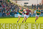 Kerry's Tommy Walsh and Galway's Joe Bergin.