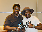 CORAL GABLES, FL - OCTOBER 17: Johnny Louis and Anthony Hamilton backstage during Hot 105's 30th Anniversary R&B Groove at Bank United Center on Saturday October 17, 2015 in Miami, Florida.  ( Photo by Johnny Louis / jlnphotography.com )