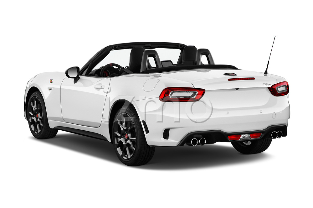 Car pictures of rear three quarter view of 2017 Abarth 124 Spider Base 2 Door Convertible angular rear