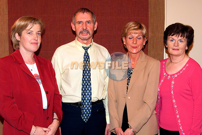 Philina Dowd, Liam O'Reilly, Bernie O'Reilly and Deirdre Reid, 2nd session team winners...Pic Paul Mohan Newsfile..Camera:   DCS620C.Serial #: K620C-00868.Width:    1728.Height:   1152.Date:  7/10/01.Time:   1:05:53.DCS6XX Image.FW Ver:   3.2.3.TIFF Image.Look:   Product.Sharpening Requested: No.Tagged.Counter:    [4648].Shutter:  1/50.Aperture:  f5.6.ISO Speed:  400.Max Aperture:  f3.0.Min Aperture:  f24.Focal Length:  30.Exposure Mode:  Manual (M).Meter Mode:  Color Matrix.Drive Mode:  Continuous High (CH).Focus Mode:  Single (AF-S).Focus Point:  Center.Flash Mode:  Normal Sync.Compensation:  +0.0.Flash Compensation:  +0.0.Self Timer Time:  10s.White balance: Preset (Flash).Time: 01:05:53.495.