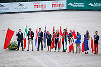 NZL Flag Bearer, Jonelle Price. The Opening Ceremony. 2018 FEI World Equestrian Games Tryon. Tuesday 11 September. Copyright Photo: Libby Law Photography