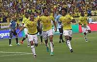 BARRANQUILLA -COLOMBIA, 11-OCTUBRE-2016. Abel Aguilar jugador de Colombia celebra su gol contra Uruguay durante el  encuentro  por las eliminatorias al mundial de Rusia 2018  disputado en el estadio Metropolitano Roberto Meléndez de Barranquilla./ XXXXX  Colombia player celebrates his goal against of Uruguay during the qualifying match for the 2018 World Championship in Russia Metropolitano Roberto Melendez stadium in Barranquilla . Photo:VizzorImage / Felipe Caicedo  / Staff