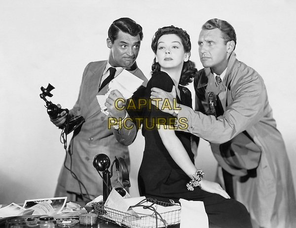 (L to R) Cary Grant, Rosalind Russell, Ralph Bellamy.in His Girl Friday.*Filmstill - Editorial Use Only*.CAP/PLF.Supplied by Capital Pictures.