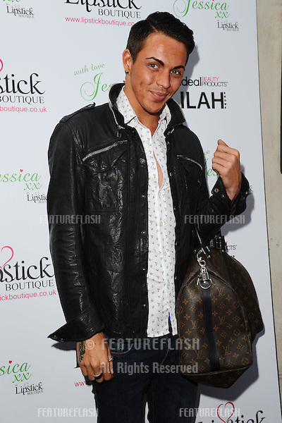 Bobby Norris arrives for the Lipstick Boutique & Jessica Wright clothing launch, Sanctum Soho Hotel, London. 21/08/2012 Picture by: Steve Vas / Featureflash