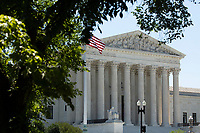 The United States Supreme Court stands in Washington D.C., U.S., on Monday, June 29, 2020.  The Court delivered a 5-4 ruling blocking a restrictive abortion law in Louisiana Monday morning.  Credit: Stefani Reynolds / CNP /MediaPunch