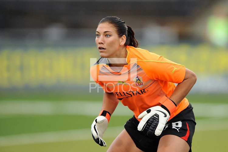 Atlanta Beat goalkeeper Hope Solo (78). The Philadelphia Independence defeated the Atlanta Beat 3-2 during a Women's Professional Soccer (WPS) match at John A. Farrell Stadium in West Chester, PA, on August 15, 2010.