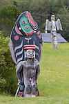 Alert Bay on Cormorant Island, the center of culture and art for the Kwakwaka'waka First Nations, Inside Passage, British Columbia, Canada