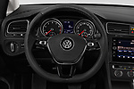 Car pictures of steering wheel view of a 2018 Volkswagen Golf-Variant Comfortline 5 Door Wagon Steering Wheel