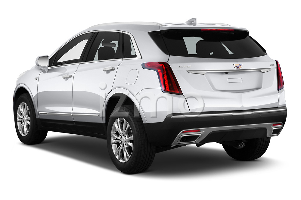 Car pictures of rear three quarter view of 2020 Cadillac XT5 Premium-Luxury 5 Door SUV Angular Rear