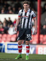 Sam Jones of Grimsby Town during the Sky Bet League 2 match between Grimsby Town and Wycombe Wanderers at Blundell Park, Cleethorpes, England on 4 March 2017. Photo by Andy Rowland / PRiME Media Images.