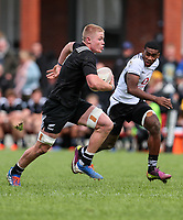 Anton Segner in action during the rugby union match between New Zealand Schools and Fiji Schools at Hamilton Boys' High School in Hamilton, New Zealand on Monday, 30 September 2019. Photo: Simon Watts / lintottphoto.co.nz