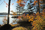 Early Morning Sunrise at Cottage on Island Pond in Stoddard, New Hampshire USA