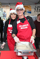 21 December 2018 - Los Angeles, California - Lisa Rinna and Harry Hamlin. Los Angeles Mission Christmas Meal for the Homeless held at Los Angeles Mission. Photo Credit: F. Sadou/AdMedia