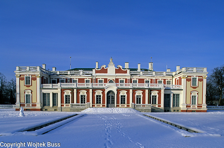 Estonia,Tallinn,Kadriorg Palace,gardens, snow, winter