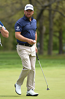 Graeme McDowell (NIR) after sinking his putt on 9 during round 4 of the 2019 PGA Championship, Bethpage Black Golf Course, New York, New York,  USA. 5/19/2019.<br /> Picture: Golffile | Ken Murray<br /> <br /> <br /> All photo usage must carry mandatory copyright credit (© Golffile | Ken Murray)