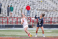 College Park, MD - February 25, 2017: North Carolina Tar Heels Sammy Jo Tracy (13) wins the faceoff during game between North Carolina and Maryland at  Capital One Field at Maryland Stadium in College Park, MD.  (Photo by Elliott Brown/Media Images International)