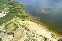 REPUBLICA DOMINICANA, RD, Lago Enrriquillo. Diferentes vistas aerea de la zona sur del pais y de la capital  Santo Domingo.<br /> Lugar:Zona Sur,RD.<br /> Foto:Cesar de la Cruz.