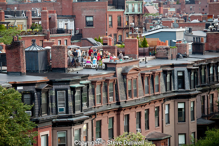July 4th, roof deck on Beacon St., Boston, MA