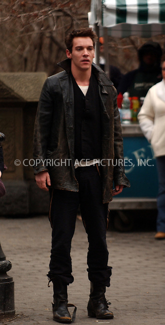 """WWW.ACEPIXS.COM . . . . . ....NEW YORK, MARCH 9, 2006....Jonathan Rhys Meyers seen filiming on the set of """"August Rush"""" in New York City.....Please byline: KRISTIN CALLAHAN - ACEPIXS.COM.. . . . . . ..Ace Pictures, Inc:  ..Philip Vaughan (212) 243-8787 or (646) 679 0430..e-mail: info@acepixs.com..web: http://www.acepixs.com"""