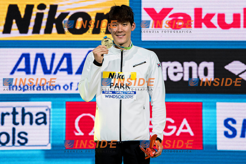 PARK Taehwan KOR Gold Medal<br /> Men's 1500m Freestyle<br /> 13th Fina World Swimming Championships 25m <br /> Windsor  Dec. 11th, 2016 - Day06 Finals<br /> WFCU Centre - Windsor Ontario Canada CAN <br /> 20161211 WFCU Centre - Windsor Ontario Canada CAN <br /> Photo &copy; Giorgio Scala/Deepbluemedia/Insidefoto