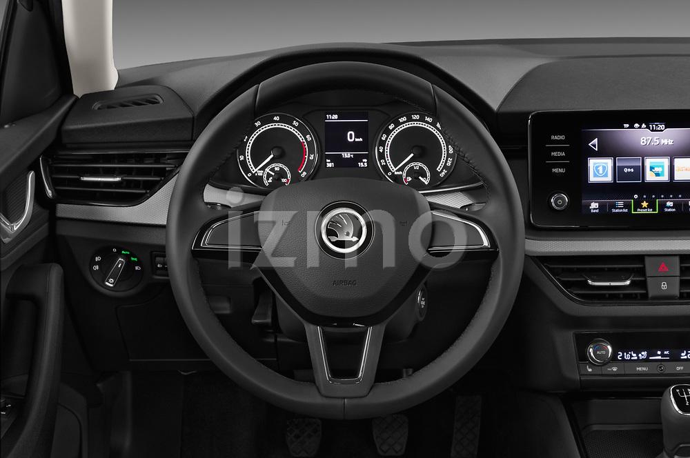 Car pictures of steering wheel view of a 2019 Skoda Scala  Ambition 5 Door Hatchback