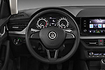 Car pictures of steering wheel view of a 2019 Skoda Scala  Ambition 5 Door Hatchback