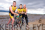 Pio Boyle, Jackie Ruttledge, and Damian Morrison, from Tralee Triathlon Club, launch the Landers Tralee Triathlon on 9th August in Fenit