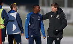 01.02.2019: Rangers training: Steven Gerrard and Glen Kamara