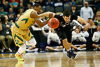PITTSBURGH, PA - MARCH 21:  Demetrius Jackson #11 of the Notre Dame Fighting Irish and Alex Barlow #3 of the Butler Bulldogs go after the ball in the second half during the third round of the 2015 NCAA Men's Basketball Tournament at Consol Energy Center on March 21, 2015 in Pittsburgh, Pennsylvania.  (Photo by Jared Wickerham/Getty Images)