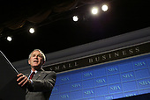 United States President George W. Bush makes remarks at the Small Business Administration's National Small Business Week Conference at the Washington Hilton Hotel in Washington, DC on Wednesday, 27 April 2005.<br /> Credit: Matthew Cavanaugh / Pool via CNP