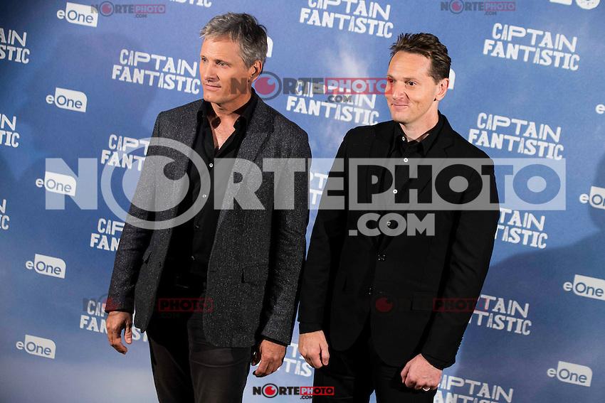 "American actor Viggo Mortensen and the director of the film, Matt Ross attends to the presentation of the film ""Captain Fantastic"" at Ursa Hotel in Madrid. September 11, Spain. 2016. (ALTERPHOTOS/BorjaB.Hojas) NORTEPHOTO.COM"