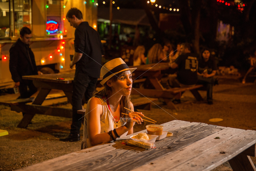 Tourist that visit Austin say among the live music festivals and conventions that another attraction is to eat at East Austin's food-court trailer parks for their diverse, experimental and delicious cuisine.