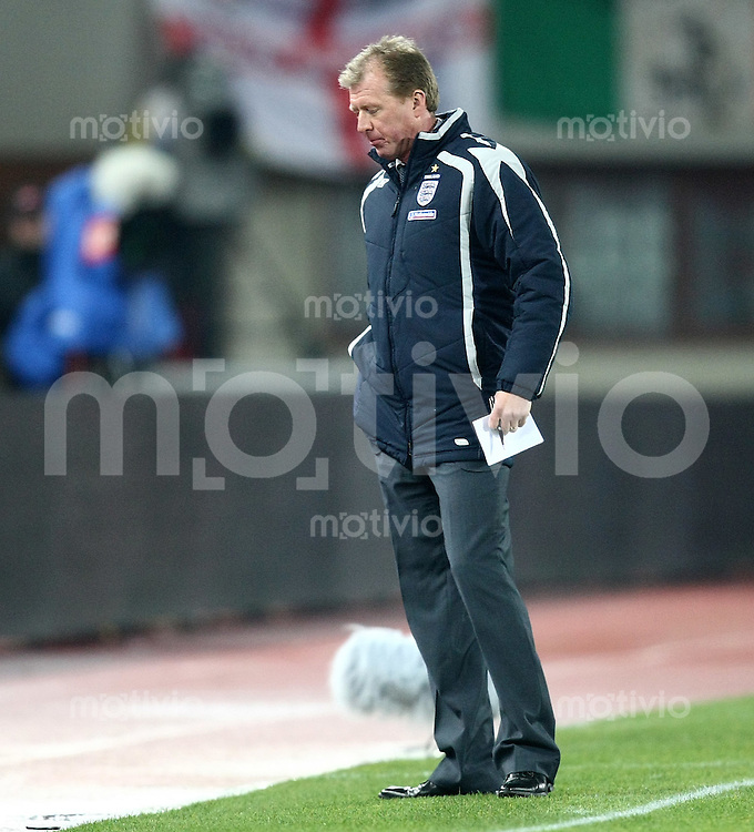Fussball International  Testspiel  16.11.2007 Oesterreich 0-1 England  ENG Trainer Steve McLaren enttaeuscht