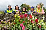 Catherine Doyle, Carol Benner, Helen O'Brien, Trish Fox and Diane Flaherty, members of the The Spa village Tidy Towns display their work on Saturday taking a well earned rest after planting the flowers